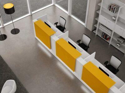 Roman – White Reception Desk with Three Counters