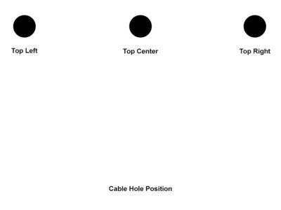 Desk Top Hole Position