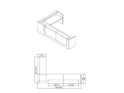 Boone – L-Shaped Reception Desk in White
