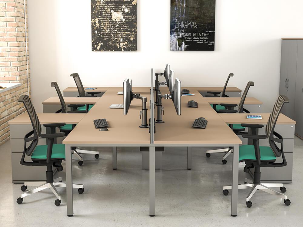 Logan – U-Leg Double Operational Office Desk