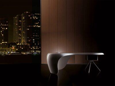 Moda – Curved Gloss Reception desk