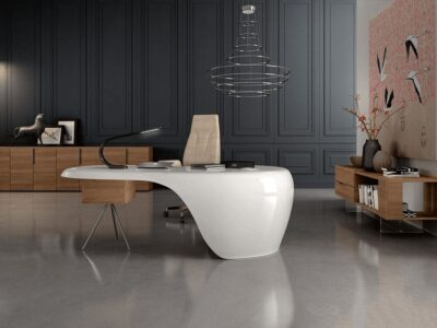 Moda – Curved Gloss Reception desk