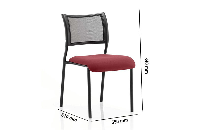 Size Dale – Mesh Back Visitor Chair