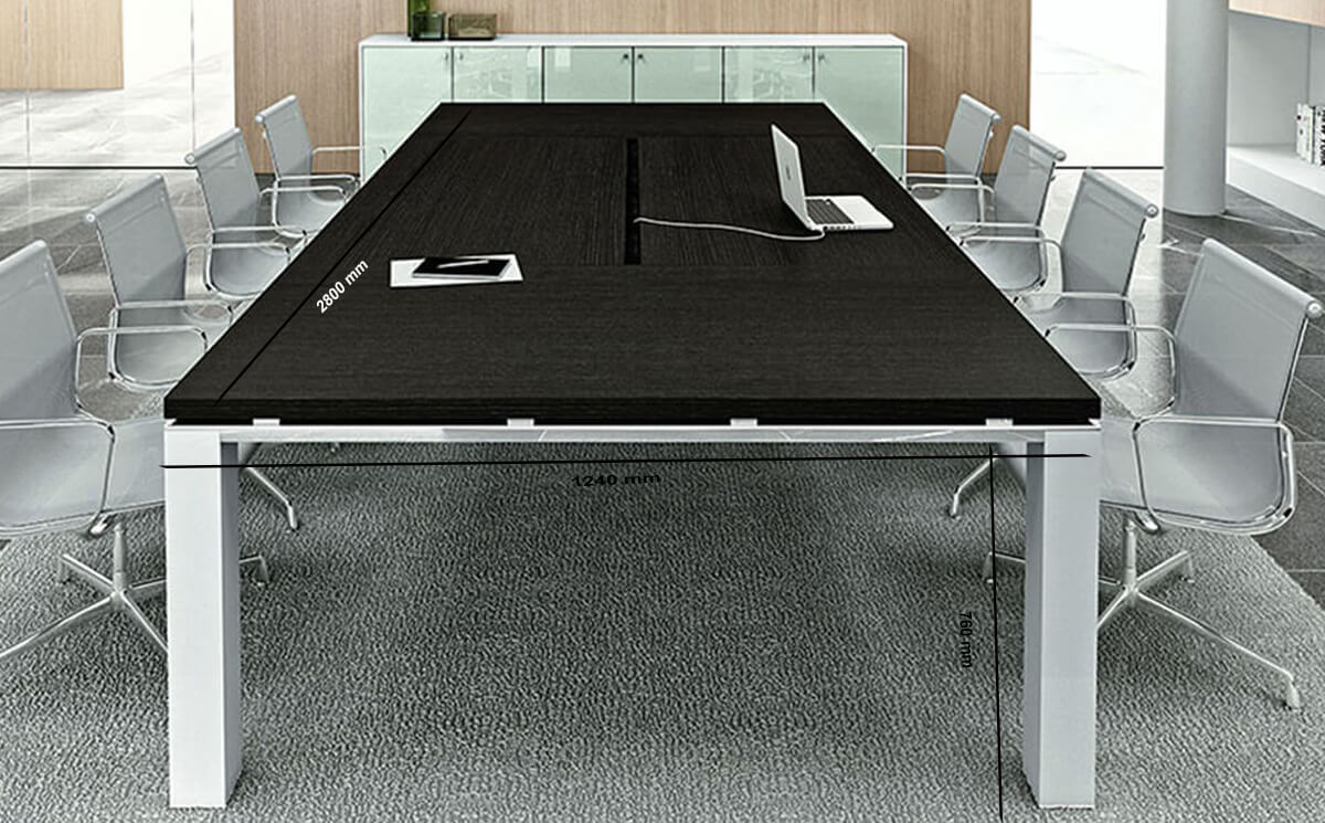 Size Eli – Rectangle Wooden Boardroom Table