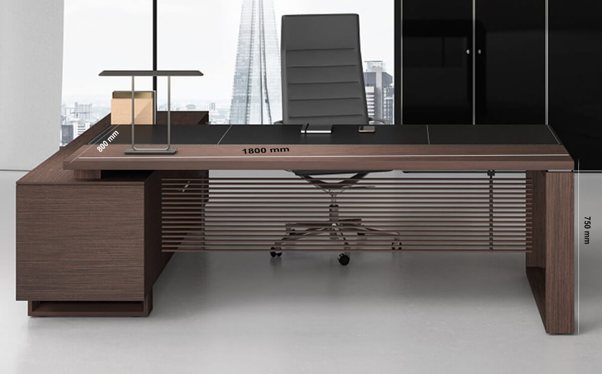 Size Ryder – Executive Desk With Leather Details