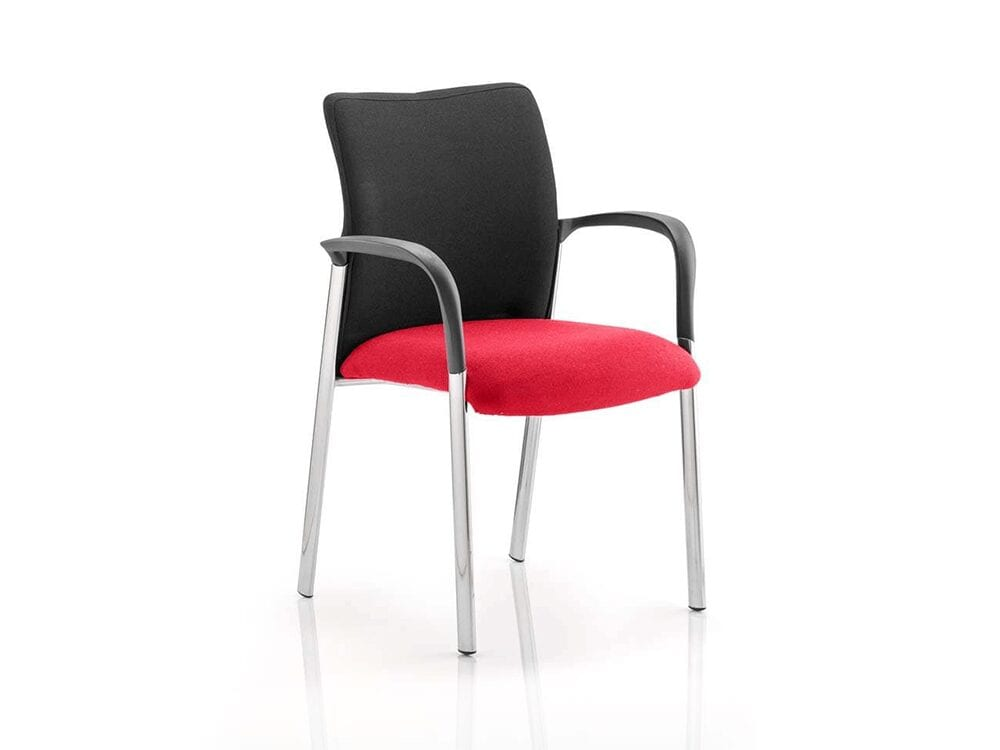 Elio – Visitor Chair in Multicolour Fabric Base with Arms