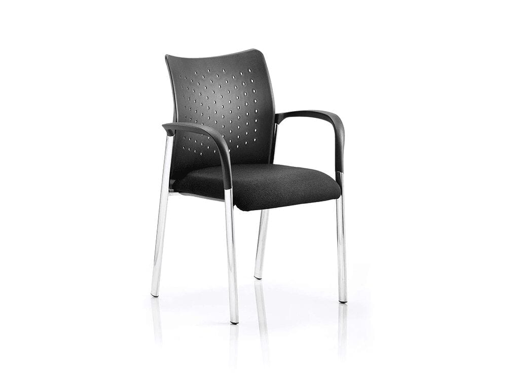 Elio – Visitor Chair in Multicolour Base with Arms