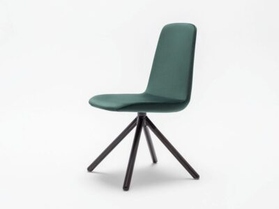 Ren – Multicolour Chair with Wooden Legs