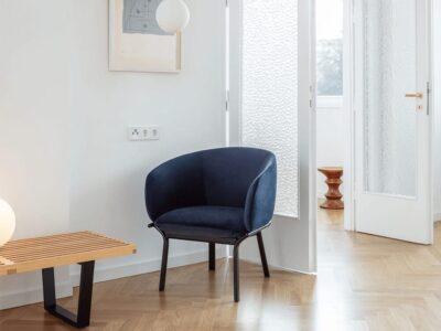 Apollo – Metal Frame Single Seater Armchair in Multicolour