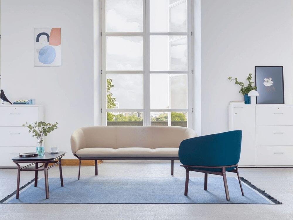 Apollo – Multicolour Three-Seater Sofa with Metal Frame