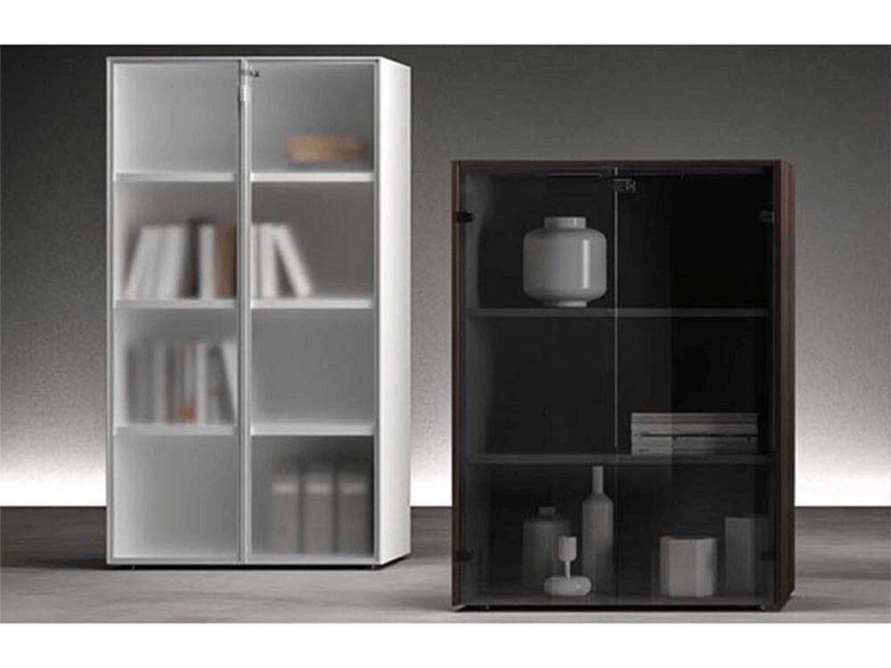 Tiffany – Woodside Storage Unit with Lockable Glass Door