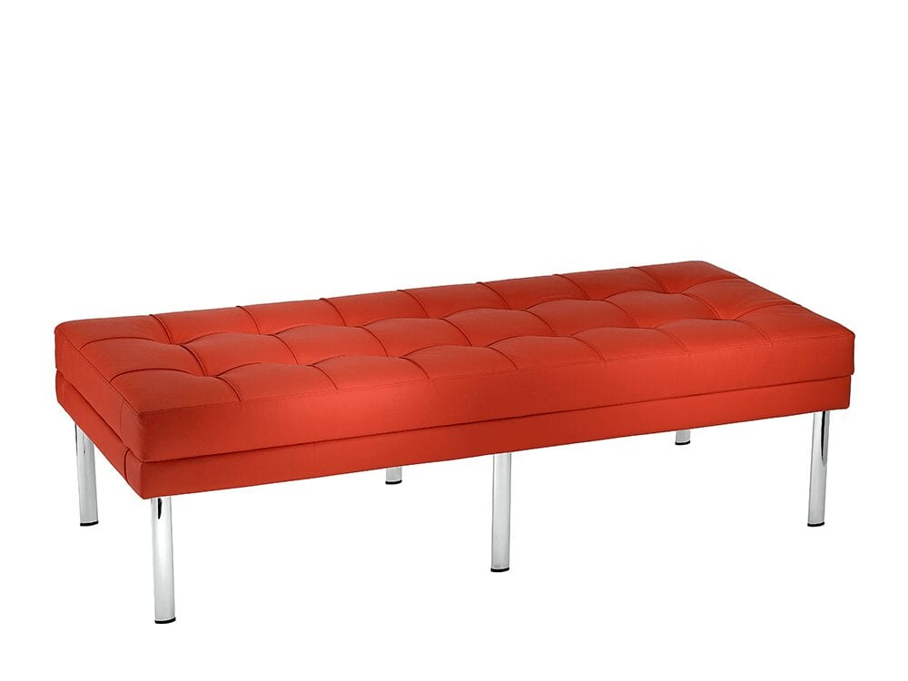 Tara – Three-Seater Bench with Chrome Feet