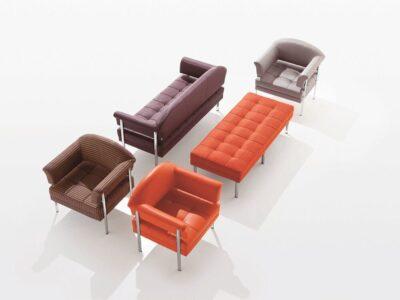 Carmella – Medium Back Single Seater Armchair with Chrome Frame