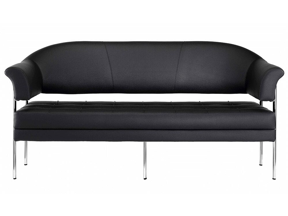 Carmella – Three-Seater Sofa with Five Chrome Frame
