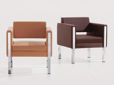 Mars – Single Seater Armchair with Chrome Frame