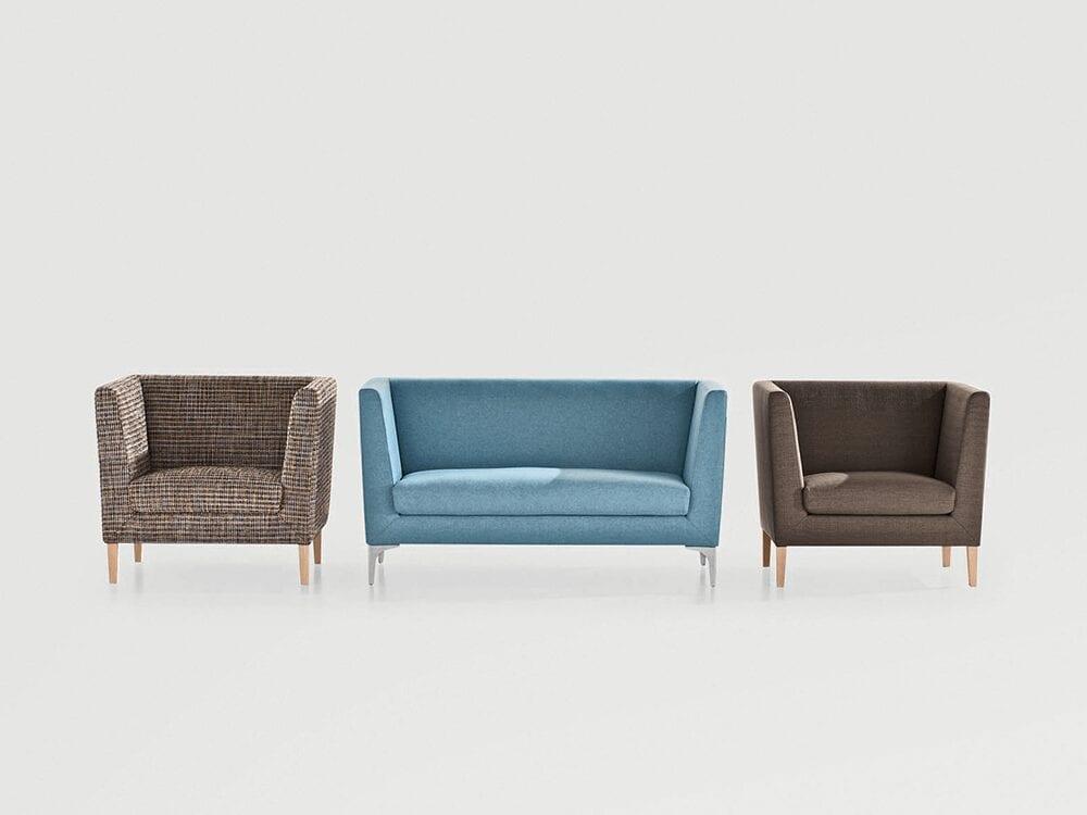 Jones – Medium Back Armchair in Multicolour