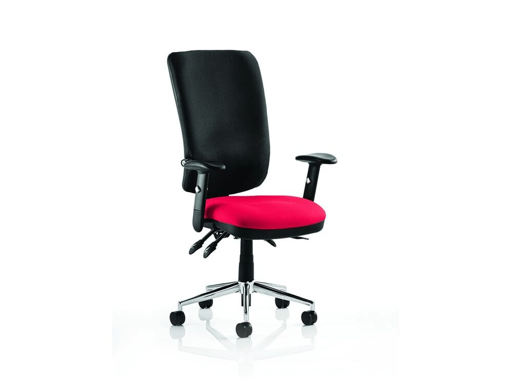 Selena 5 – High Back Operator Office Chair with Arms in Multicolour
