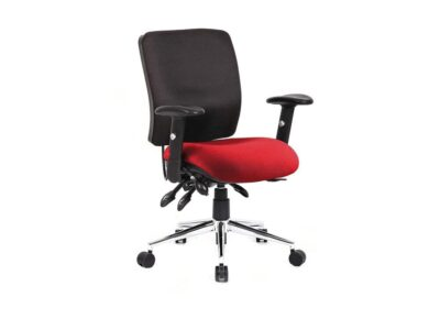 Selena 2 – Multicolour Medium Back Operator Office Chair with Arms