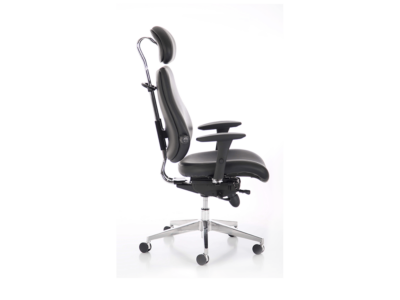 Chiro Plus Ultimate Black Leather With Arms 1