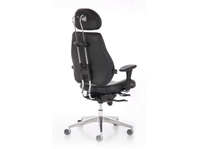 Chiro Plus Ultimate Black Leather With Arms Back