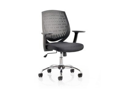 Dura-Task-Operator-Chair-Black-With-Arms-Black