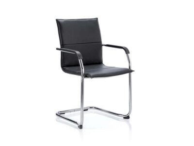 Echo – Leather Cantilever Visitor Chair