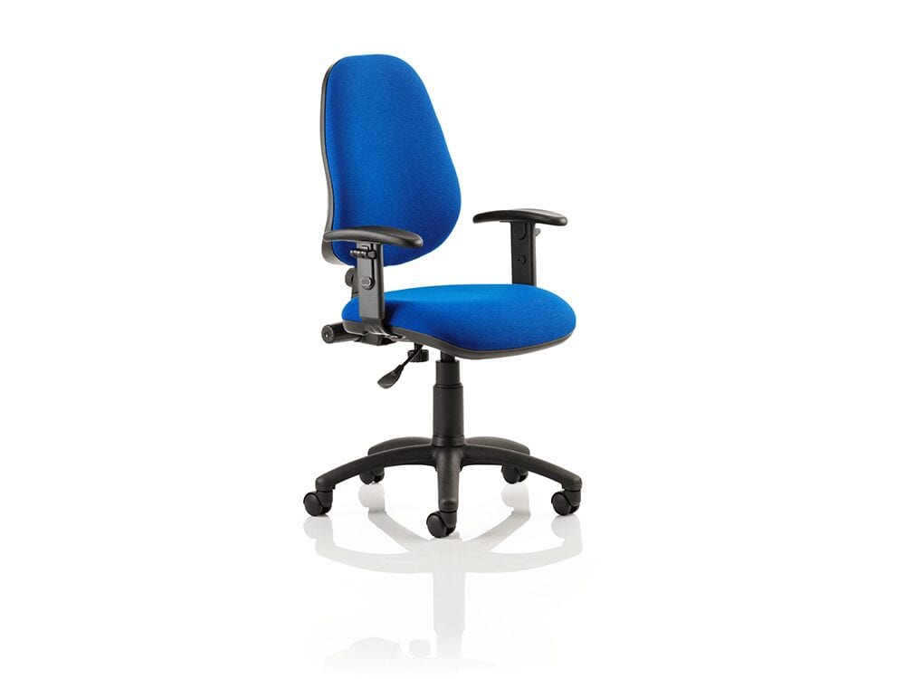 Esme 1 – High Back Fabric Operator Office Chair with Adjustable Arms
