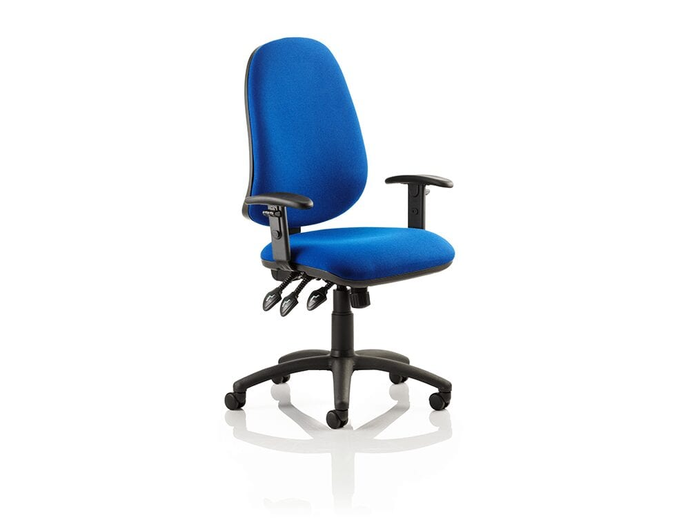 Esme XL 3 – High Back Fabric Operator Office Chair with Adjustable Arms