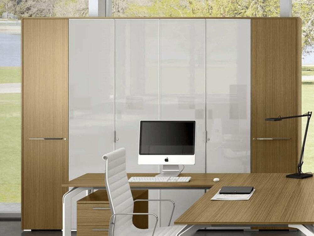 Hansol – High Level Cupboard with Aluminium Framed Glass Doors