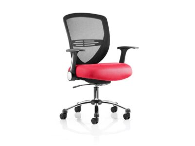Sofia – Medium Back Operator Office Chair in Multicolour with Arms