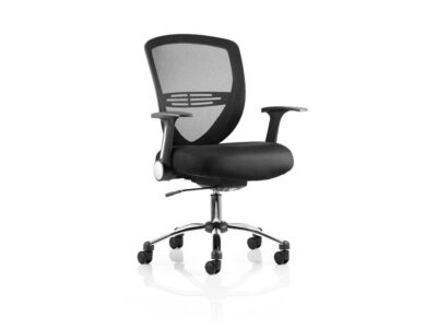 Sofia – Black Mesh Medium Back Operator Office Chair with Arms