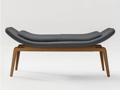 Betty – Two-Seater Bench with Wooden Legs