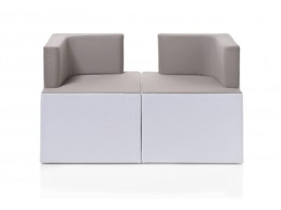 Link – Coupling Square Armchairs with Block Base in Multicolour