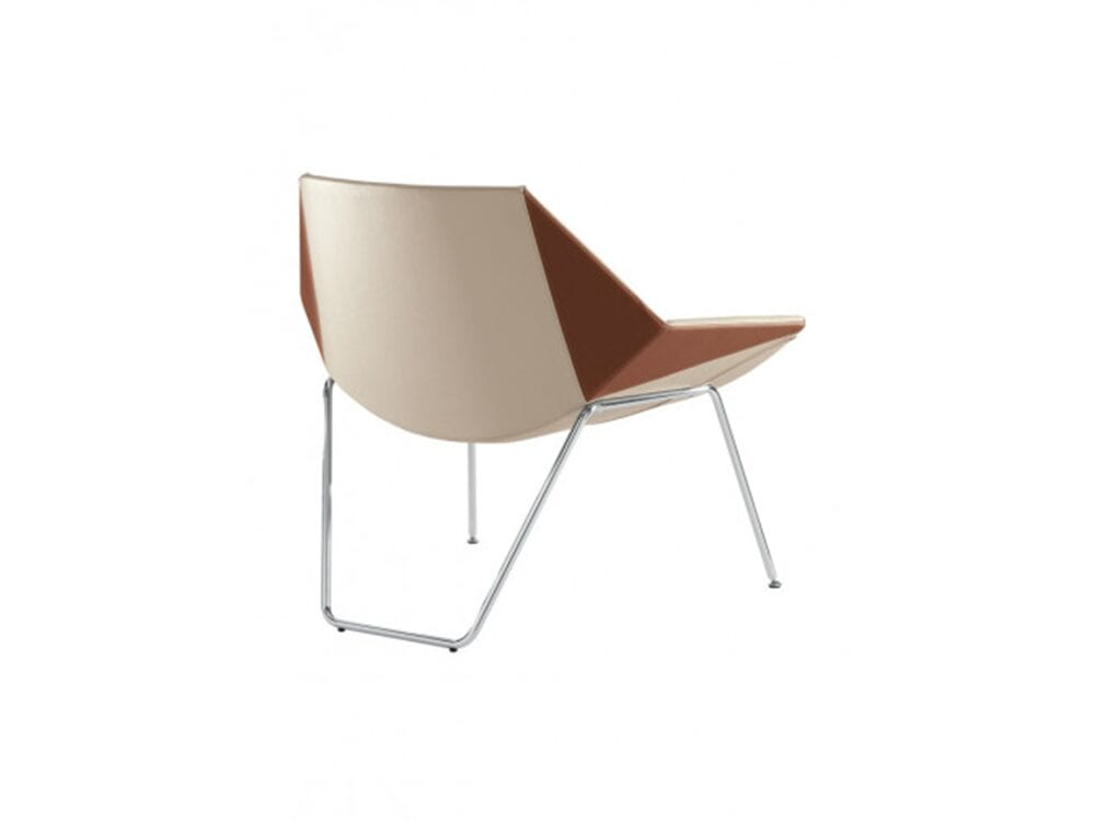 Duo – Low Back Armchair with Metal Legs