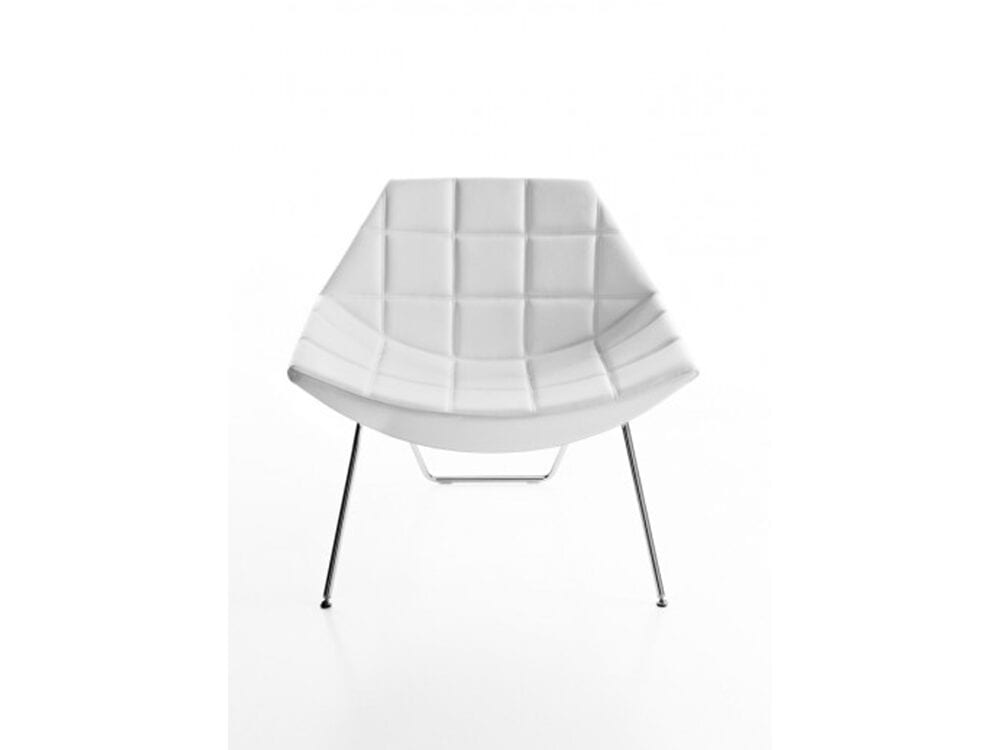 Duo – Low Back Chair with Squared Stitching