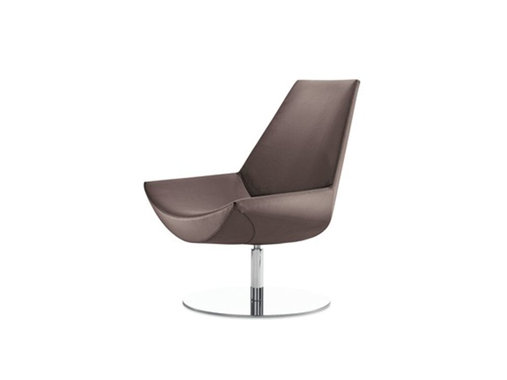 Duo – High Back Leather Chair with Stainless-Steel Base