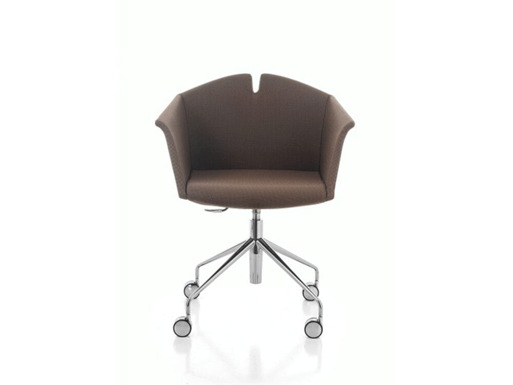 Jett – Winged Armchair in Multicolour with Metal Wheeled Base