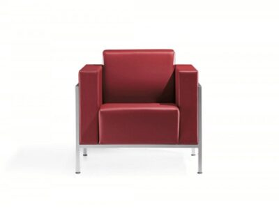 Brooke – Block Armchair and Sofa in Multicolour with Chrome Frame