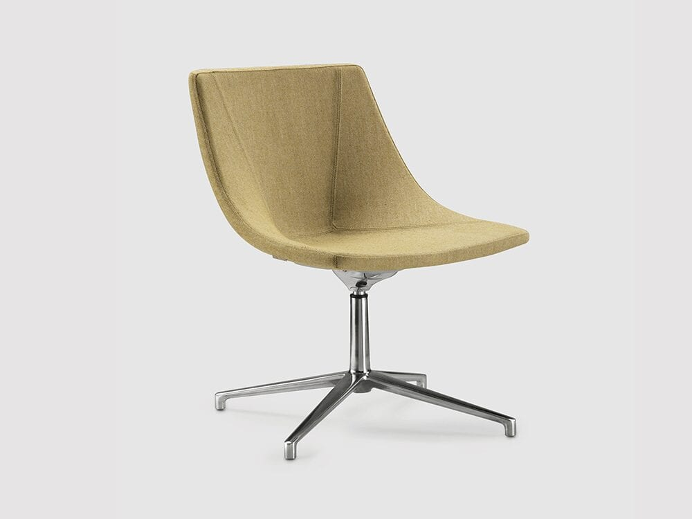Dune – Leather Lounge Chair with Swivel Frame