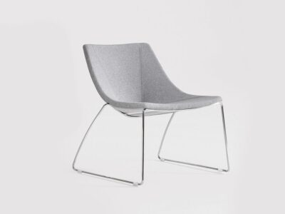 Dune – Leather Chair with Metal Legs in Multicolour