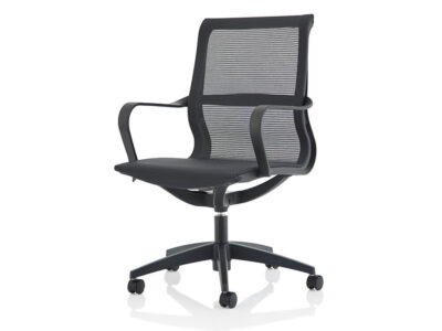Lula Black Mesh Executive Chair With Fixed Arms 2