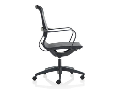 Lula Black Mesh Executive Chair With Fixed Arms