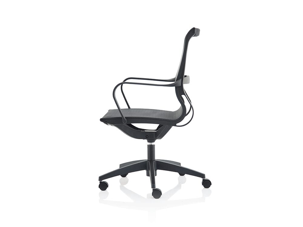 Isla – Black Mesh Executive Chair with Fixed Arms