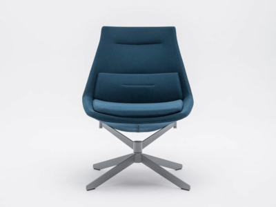 Lusso – Designer Fabric Armchair With Metal Legs1