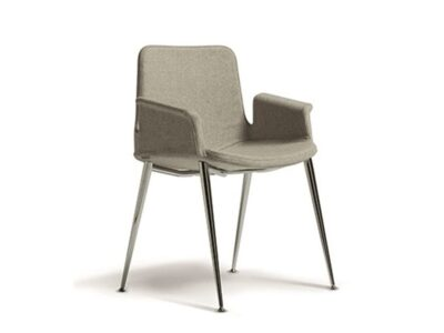 Juliet – Winged Armchair Straight Aluminium Frame