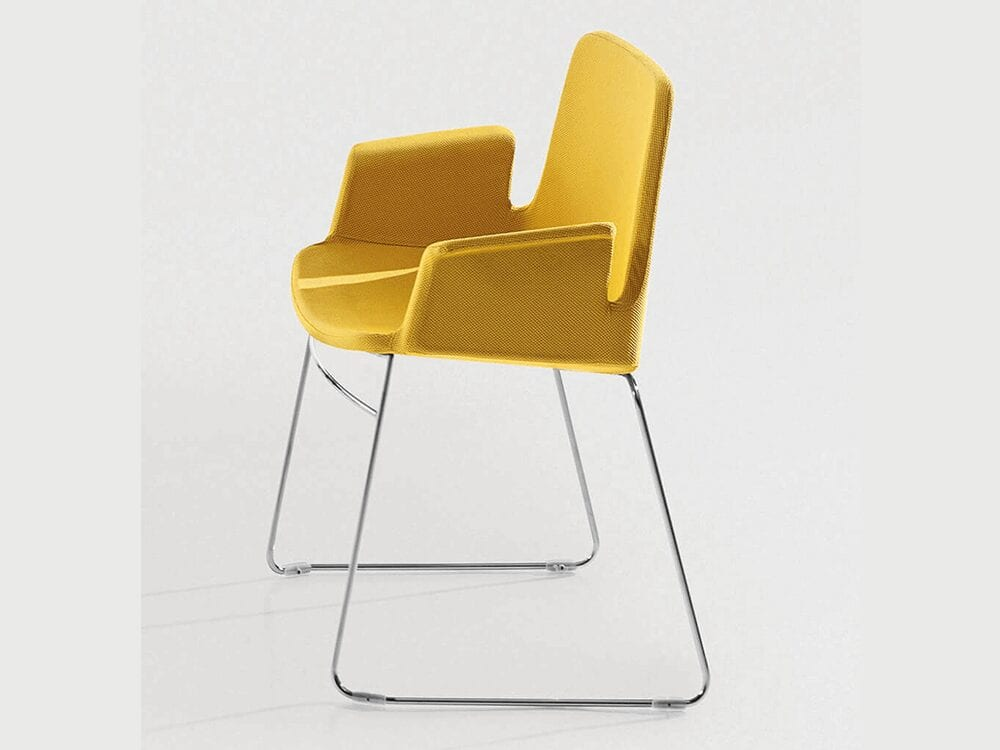 Juliet – Armchair with Skid Base in Multicolour