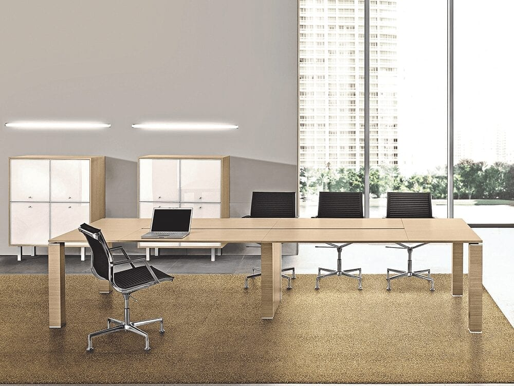 Amelia – Wooden Straight Meeting Table