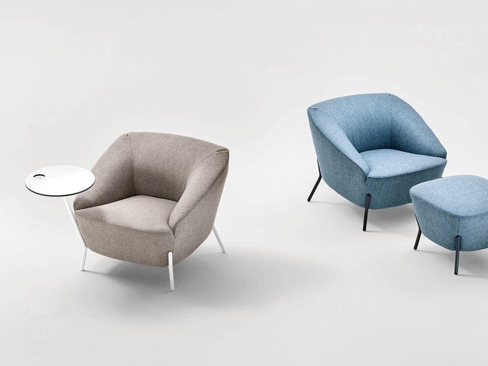 Santos – Multicolour Medium Back Armchair with Attached Table