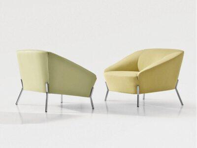 Santos – Medium Back Armchair with Chrome Legs