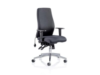 Nyra – Fabric Black Blue Executive Task Chair